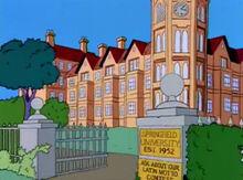 Universidade springfield entrada