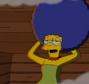 Marge humid hair