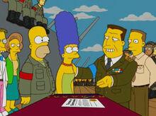 Homer marge coronel exército