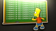 The simpsons take the bowl- chalkboard gag