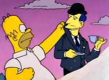 Homer inglês ladrão açucar