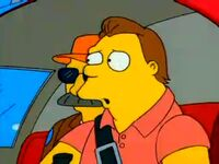 Barney no helicoptero