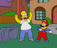 Homer vs mario