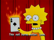 This suit burns better