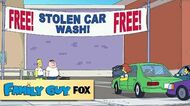 "Free Stolen Car Wash from ""The Simpsons Guy"" FAMILY GUY ANIMATION on FOX"