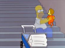 Homer salvando o bebe