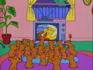 The Simpsons Santa's Little Helper's Puppies watching TV