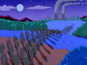 Golfinho indo para cidade de Springfield