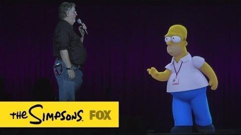Comic-Con 2014 Hologram Homer THE SIMPSONS ANIMATION on FOX