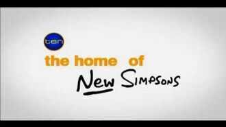 """Channel Ten Simpsons Promo """"The Homer of New Simpsons"""" (2007)"""