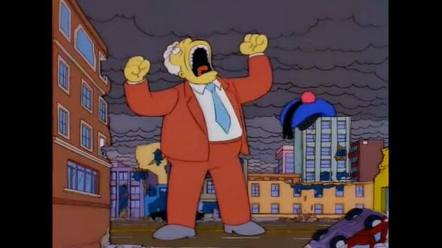 File:Kent Brockman Statue Roars In Rage As The Mascots Are Still At Large.jpg