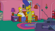 Maggie in a safe couch gag