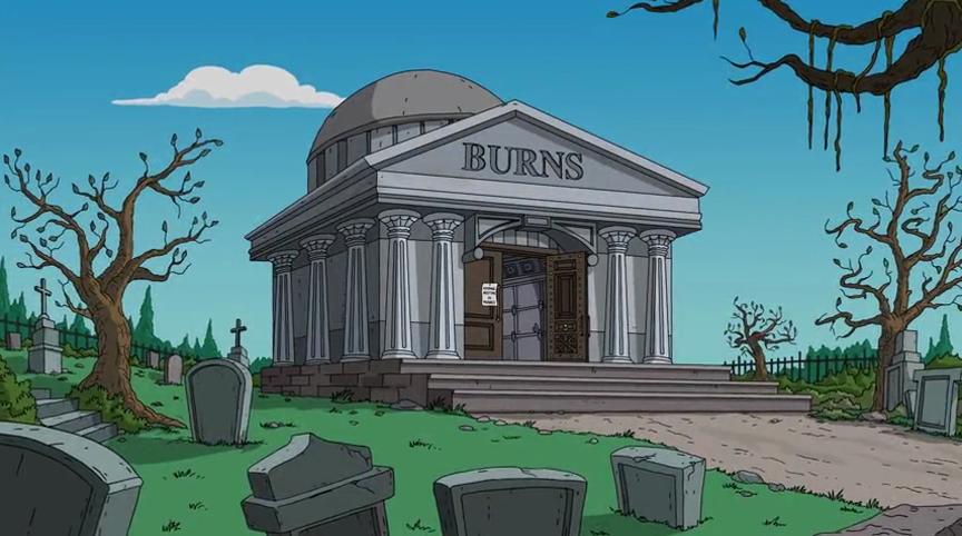 burns family mausoleum simpsons wiki fandom powered by wikia