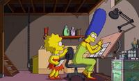 Lisa i Marge pracują razem