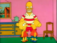 BartLisaFightingLoveHomer