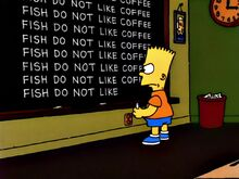 Bart vs. Lisa vs. the Third Grade Chalkboard Gag