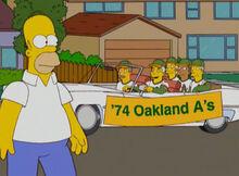 Homer homenagem 74 oakland a's