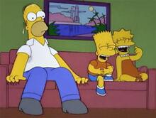 Homer medo desenho espaço