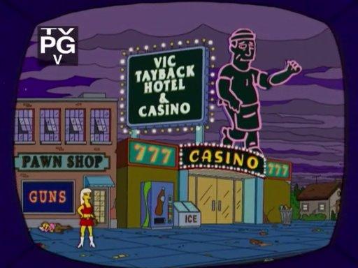 The simpsons burns casino casino rama bus