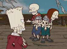 Bart esqueletos enroscados