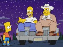 Bart homer texano carro noite