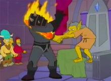 Moe troll ataca cavaleiro