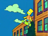 Bart Flying at School