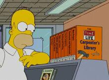 Homer biblioteca carpinteiro