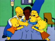 Simpson Family hug Apu