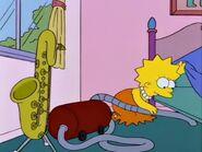 Lisa vacuuming