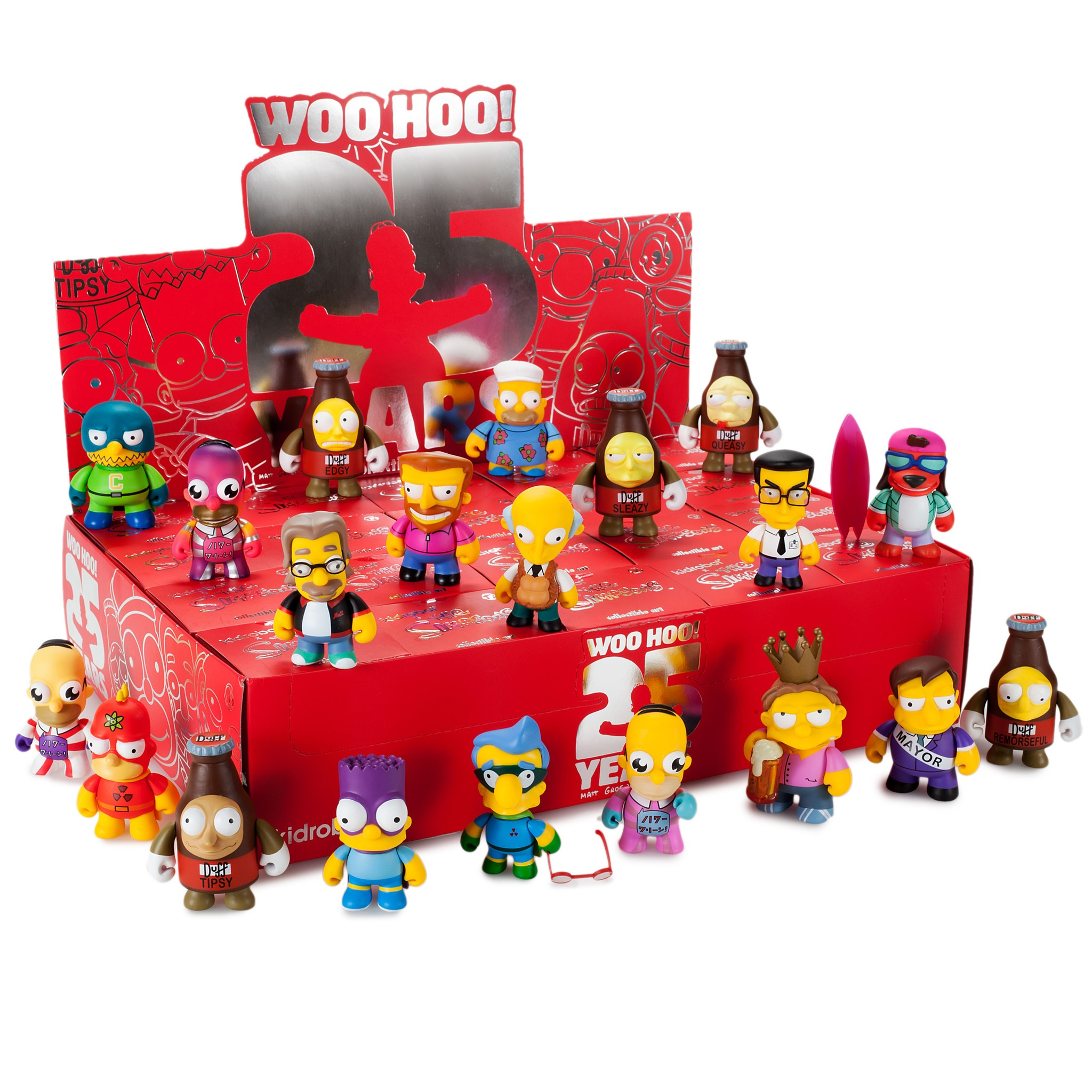 Plow King Barney Simpsons Anniversary Vinyl Mini Series Kidrobot Brand New