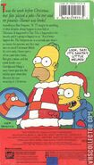 The Simpsons Christmas Special VHS Back Cover