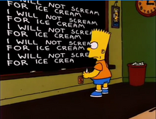 I will not scream for ice cream
