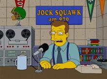 Jock squawk studio radio 1