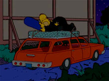 Simpsons sexo carro placa 18x18
