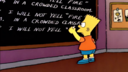 Chalkboard gag (Some Enchanted Evening)