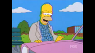 Homer and the Sedan