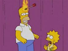 Lisa flecha indio fogo grito homer