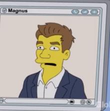 Magnus Carlsen Simpsons