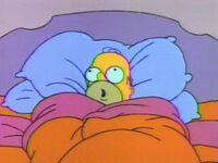 Homer na cama
