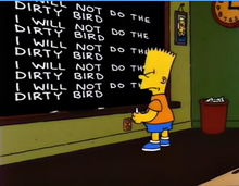 I will not do the dirty bird