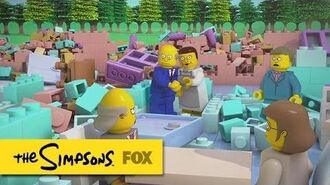 "Springfield Elementary Collapses, Brick-by-Brick from ""Brick Like Me"" THE SIMPSONS"