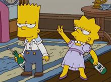 Bart lisa bêbados 18x11