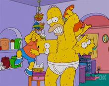 Homer coceira crianças