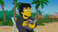 Neil Gaiman z przywłaszczoną książką