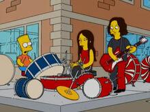 Bart acidente white stripes