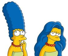Marge simpson hair