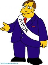 Mayor quimby 01 the simpsons 50546