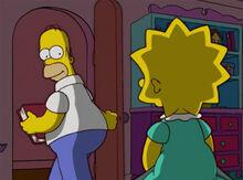 Homer livro sai quarto lisa