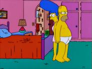 Poppa'sGotABrandNewBadge Homer&MargeStuckTogether